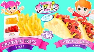 getlinkyoutube.com-Yummy Nummies Fantastic Fries & Terrific Tacos Makers Food Kits Review by DCTC