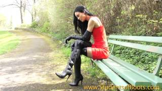 getlinkyoutube.com-Long Leather Gloves and Boots