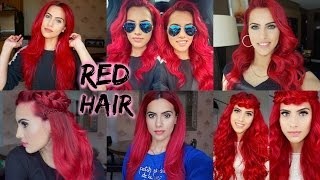 getlinkyoutube.com-HOW TO: dye dark hair bright red | WITHOUT bleach