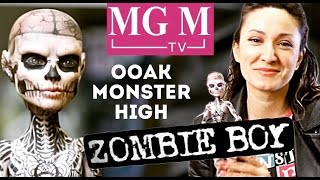 getlinkyoutube.com-Zombie Boy Зомби Бой ООАК Рик Дженест (Rick Genest) OOAK Monster High doll