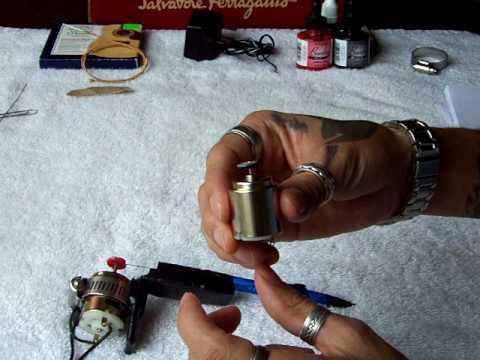Maquina de tatuar casera (detalles)