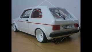 getlinkyoutube.com-Modellauto-Tuning VW Golf I GTI 1:18