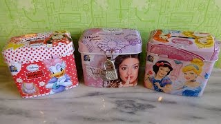 getlinkyoutube.com-Disney Mickey & Minnie Mouse - Violetta - Princess Secret Tin Gift Box Surprise Unpacking