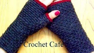 getlinkyoutube.com-كروشيه جوانتى بدون أصابع - #كروشيه_كافيه# Crochet Cafe