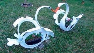 como fazer um cisne com pneu, making tire Swan, artes de garagem