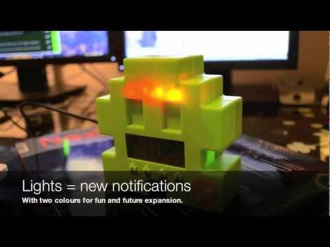 Retro Space Invaders Gmail Notifier (Arduino)