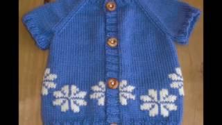 getlinkyoutube.com-Easy Baby Sweater - Hand-Knitted Cardigan Made