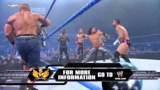 getlinkyoutube.com-Smackdown 2/18/11 !12 Man Tag Match Mysterio,Cena&more vs King Sheamus, Barret & Co HQ