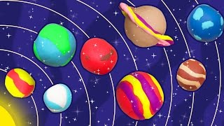 getlinkyoutube.com-Fun with Play Doh | How to Make Play-Doh Planets  | Easy DIY Play Doh Creations