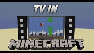 Fully working TV in Minecraft no mods by Craftronix