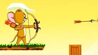 getlinkyoutube.com-Tom and Jerry / The Archer of Jerry / Jerry Fall Away / Cartoon Games Kids TV
