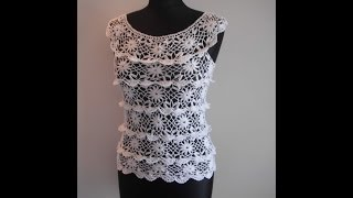 getlinkyoutube.com-how to crochet ruffle blouse by marifu6a free crochet pattern tutorial para verano
