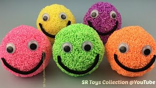 getlinkyoutube.com-Foam Clay Smiley Face Surprise Eggs Shopkins Disney Inside Out The Good Dinosaur TMNT Toys for Kids