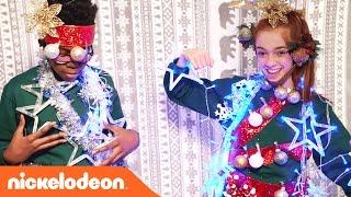 getlinkyoutube.com-The Human Christmas Tree Challenge & a Special 'Albert' Teaser | Nick