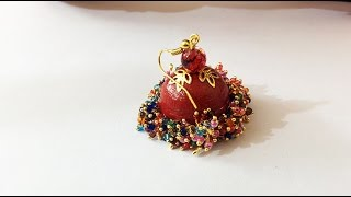 2. How to hang loreals on Paper Jhumkas