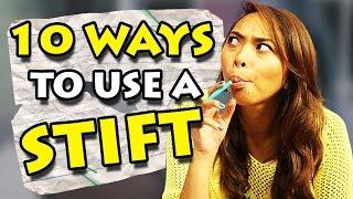 getlinkyoutube.com-10 ways to use a STIFT   Chaos Chrissy