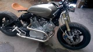 getlinkyoutube.com-Yamaha Virago XV750 Cafe Racer build  alsmost finished