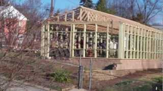 getlinkyoutube.com-Greenhouse-Polycarbonate and glass greenhouse construction 1-12