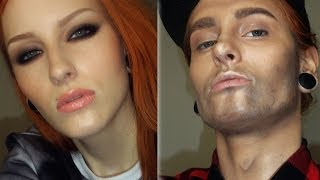 getlinkyoutube.com-WOMAN TO A MAN MAKEUP TRANSFORMATION TUTORIAL / Female To Male Make-up
