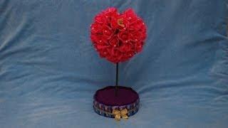 getlinkyoutube.com-Топиарий из конфет ко дню Валентина. Topiary of sweets