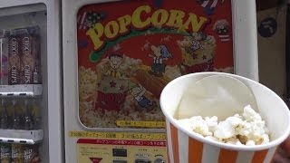 getlinkyoutube.com-Pop Corn Machine Strawberry Milk Flavor ~ ポップコーンマシン