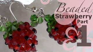 getlinkyoutube.com-MeiIris' Beaded Sweet Strawberry Earrings Part 1