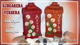 AZUCARERA Y YERBERA CON TETRA PAK