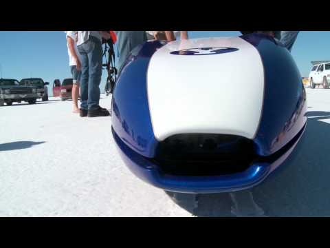 BYU electric streamliner sets world land speed record Sep 2011