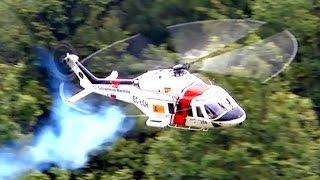 TURBINE EXPLOSION AW-139 BIG SCALE RC MODEL TURBINE HELICOPTER / Pöting Turbine Meeting 2015