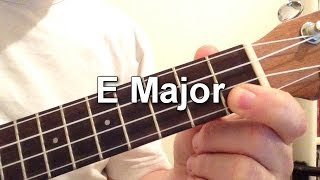 How to play E Major chord on the ukulele!