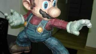 getlinkyoutube.com-Super Smash Bros. Brawl Mario Papercraft Stopmotion