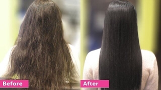 getlinkyoutube.com-Permanent Hair Straightening at home with all natural ingredients | Silk & shine