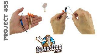 getlinkyoutube.com-Make a Mini Bow and Arrow: Project # 55: The Sonic Mini Longbow
