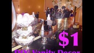 getlinkyoutube.com-DIY|MakeUp Vanity Display $1store