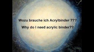 getlinkyoutube.com-Acrylbinder - wie verwende ich ihn? / Acrylic binder - how to use