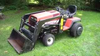 Simplicity Sunstar 20 with a loader, tiller, mower, snowblower