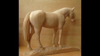 "getlinkyoutube.com-Wood carving sculpture ""Arabian horse"""