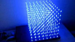 LED cube 8x8x8 demo view on rutube.ru tube online.