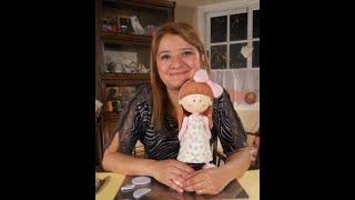getlinkyoutube.com-Muñeca en Porcelana fría y decoupage