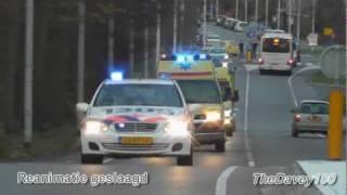 getlinkyoutube.com-Brandweer, politie en ambulance met hoge spoed naar REANIMATIE Rozenburg Zh + Spoedtransport