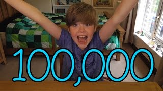 getlinkyoutube.com-8-year old Ethan reaches 100,000 Subscribers!!!! COUNTDOWN + REACTION!!!