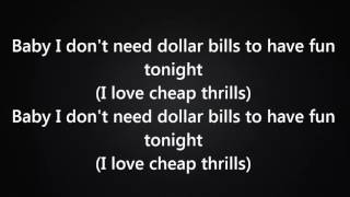 Sia - Cheap Thrills Ft. Sean Paul [Lyrics] |New 2016| width=