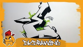 getlinkyoutube.com-Graffiti Alphabet Tutorial - How to draw graffiti letters - Letter E