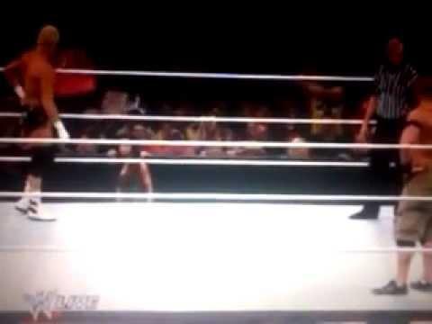 John Cena vs Dolph Ziggler w/AJ Lee  Raw, January, 7, 2013