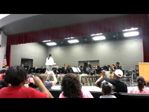 STEM magnet academy's band performance. Jakob 2013