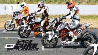 getlinkyoutube.com-Battle for the Lead - KTM Duke Battle 2013 Oschersleben