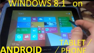 getlinkyoutube.com-How to install WINDOWS 8.1 on ANDROID TABLET/PHONE?? [TOUTORIAL]