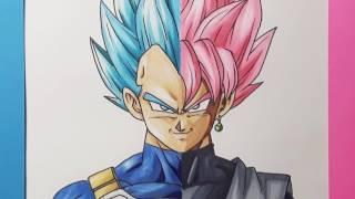 getlinkyoutube.com-Drawing Vegeta Vs Goku black