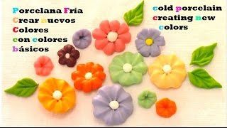 getlinkyoutube.com-Porcelana fría como crear colores Cold porcelain and create colors