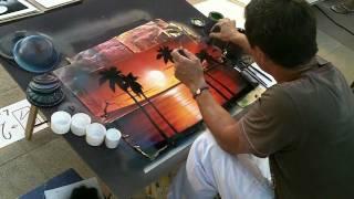 Damir :  un artiste qui peint à la bombe